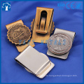 custom 3D antique gold plating money clip metal