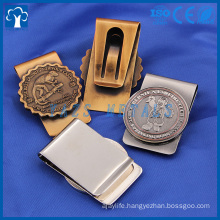 engrave logo custom metal money clip