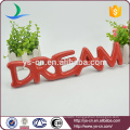 """DREAM"" shape ceramic letter sign board for decoration"