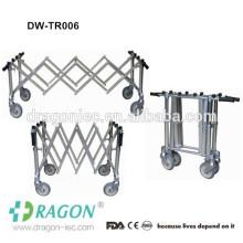 Trolley de móvel em aço inoxidável móvel para cadáveres