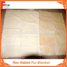 Comfortable Rex Rabbit Fur Blanket