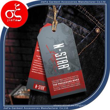 Etiqueta colgante de alta calidad para la ropa