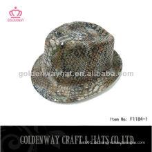 Günstige Fedora Hüte für Männer Pailletten Snakeskin Mode cool für Party