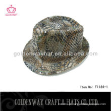Cheap Fedora Hats For Men sequin snakeskin fashion cool for party
