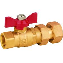 J229 Messing Wasserzähler Kugelhahn