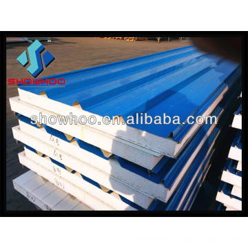 Light frame prefabricated steel building material EPS sandwich panel