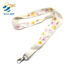 Lanières de coton tissées de conception spéciale qui respecte l'environnement de logo fait sur commande de haute qualité