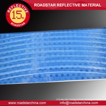 Blue colour reflector bicycle wheels decals