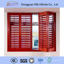 Affordable wooden plantation window shutter blinds made in China
