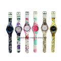 Los relojes análogos del silicón del reloj de los cabritos de la venta 2017 calientes con el movimiento de Japón