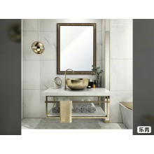Gold color framed hanging type 3mm 5mm silver bath mirror