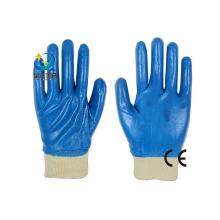 13G Nitril Polyester Shell, blau Nitril voll beschichtet, Schutzmaßnahmen Arbeitshandschuhe (N6032)