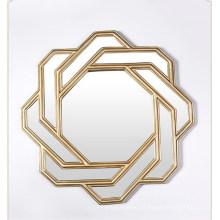 Resina de alta calidad enmarcada espejo de pared para la decoración de la sala de estar