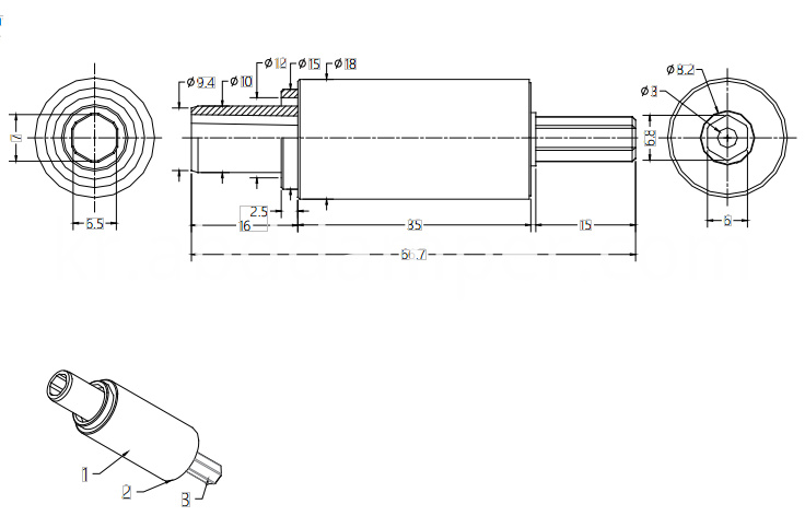 Shaft Damper Drawing For Screen Window