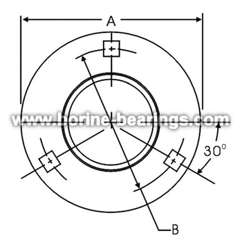 3-Bolt Hole Round Self-Aligning Mounting Flanges