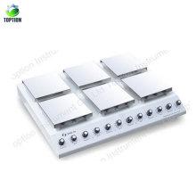 Mezclador magnético de la placa caliente del instrumento de mezcla del laboratorio 0 ~ 1250rpm 0-400c