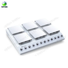Agitateur magnétique de plaque chauffante d'instrument de mélange de laboratoire 0 ~ 1250rpm 0-400c
