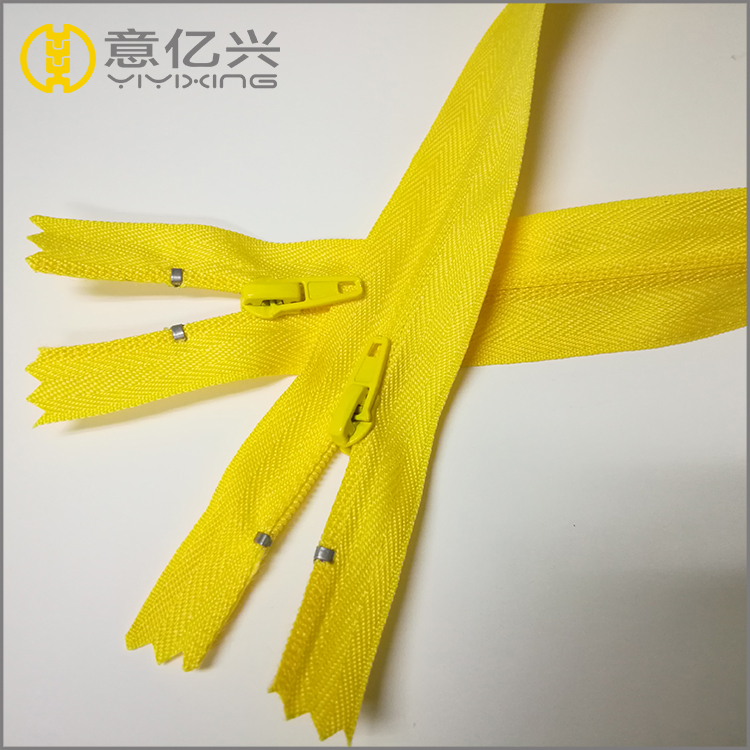 yellow teeth two way zipper