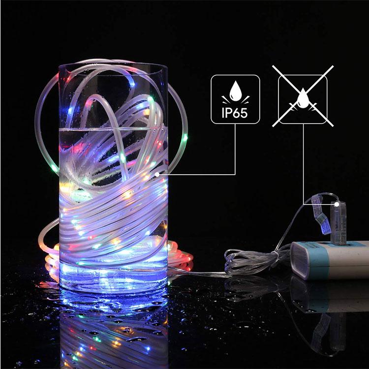 multicolor rope light decoration