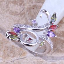 anneaux de doigt acrylique italien moule plaqué or