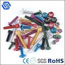 Titanium Aluminiumlegierung Alle Arten Sockel eloxierten Schrauben