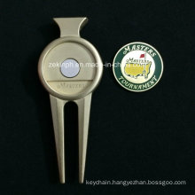 Custom Zinc Alloy High Quality Golf Divot Repair Tool with Marker