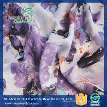 Tissu en satin personnalisé à imprimé numérique 100% polyester pour TEAMWAY