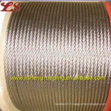 Échelle de câble en acier brillant 6x19