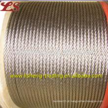 6x19 sling de cabo de aço brilhante de aço