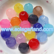 4-20MM Acrylic Translucence Round Faceted Beads