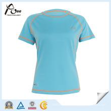 China T-shirt em branco vazio dos pares da fabricação camiseta