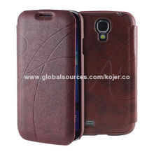 Hot-selling Flip Phone Cases for Samsung Galaxy S4 (i9500) with Heat-pressing Technology