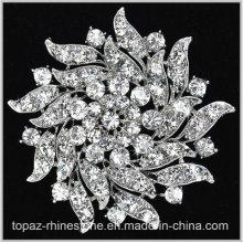 Shining Crystal Rhinestone Flower Brooch for Garment (TM-032)