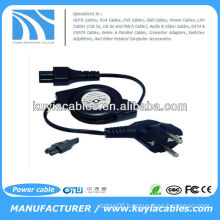 Europe 3pin retractable power cord for digital camera laptop