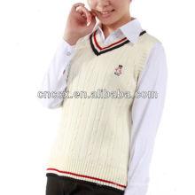 13STC5041 colete estilo camisola sem mangas colete