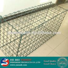 Riverbed reinforced square shape gabion mesh