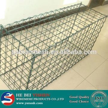 Riverbed reinforced square shape gabion mesh