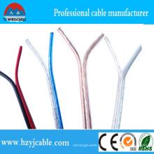 CCA / CCC Чистый медный синий прозрачный акустический кабель AWG 15 2 * 7 * 21 / 0.12 Параллельный кабель