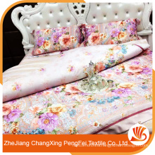 Fancy polyester customized printing bedsheet/quilt fabric