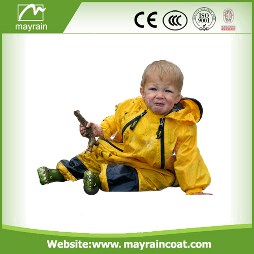 Reflective Polyester Kids Rainsuits