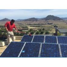 Стекловолокнистые материалы с питанием от воды с зажимами, работающими на солнечной панели
