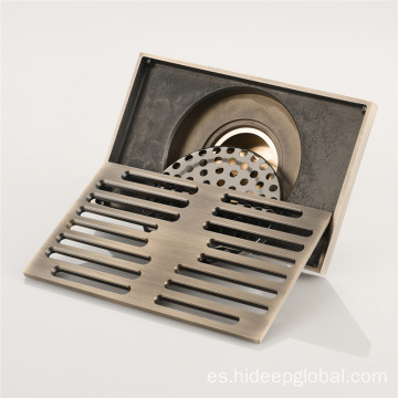 HIDEEP Bathroom Linear Antique Brushed Floor Drain