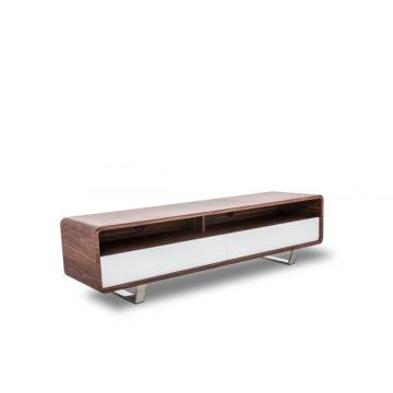 Modern Walnut veneer and white TV Stand