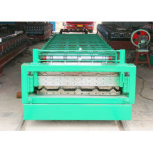 Steel Tile Roof And Wall Panal Double Layer Roll Forming Machine 15m/min