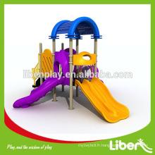 Parc d'attractions glisser la glissière en plastique Équipement de terrain de jeux extérieur pour les enfants