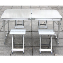 Outdoor portable camping briefcase folding aluminium tables and chairs manufacturer