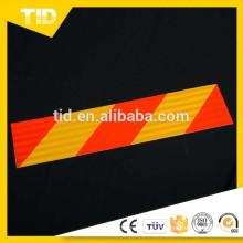 Placas de marca trasera reflexivas rojas amarillas