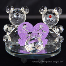 Crystal Collection lovely Bear with heart Figurines