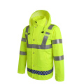 fluorescent red 150D oxford reflective work clothes