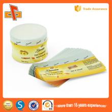 Papier personnalisé en plastique personnalisé PVC PETShrink Sleeve Labels Autocollants pour confiture et bouteille